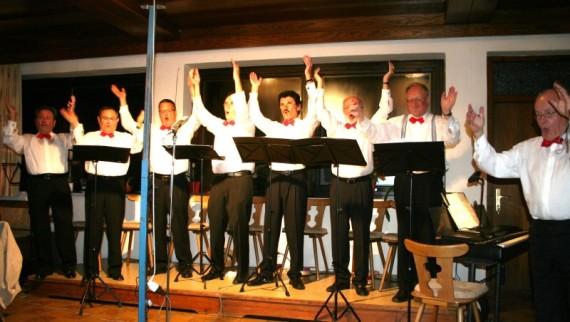 """Die """"Feringer Vocalisten"""" boten einen überzeugenden Auftritt."""