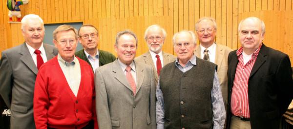 Vorstandschaft des MGV bei der Jahreshauptversammlung am 04.02.2011