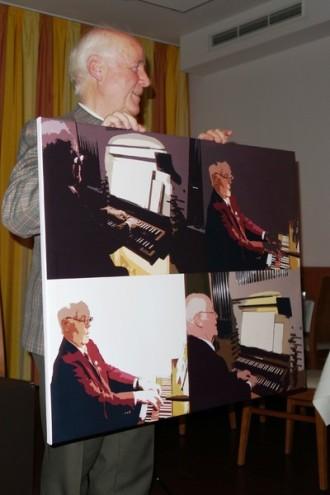 """""""Andy-Warhol""""-Druck mit Dirigent Rainer Wiedemann"""
