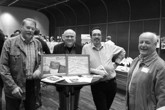 Sänger bei der Neubürgerversammlung: Walter Donaubauer, Franz Solfrank, Stefan Sandor und Chorleiter Rainer Wiedemann